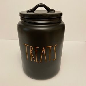 Rae Dunn Halloween 2020 Black Treats Canister